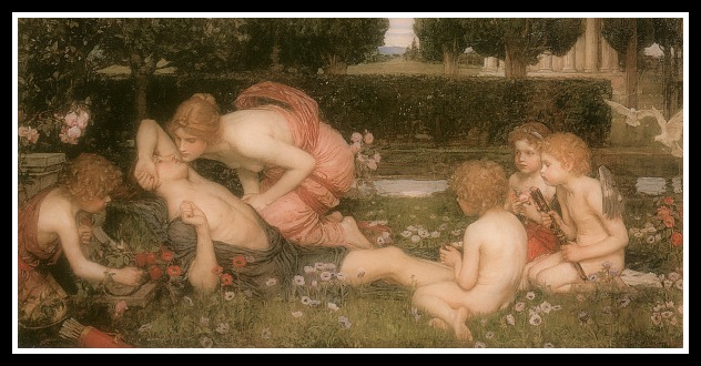 """The Awakening of Adonis"" by John William Waterhouse. (1900)."