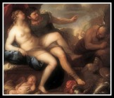 """Venus and Mars, caught by Vulcan"" by Luca Giordano (1760)."