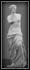 """Aphrodite of Milos"", better known as the ""Venus de Milo"" was created during the Hellenistic Period, sometime between 130 and 100 BC, by Alexandros of Antioch. Musée du Louvre. Paris. France."