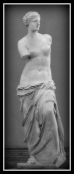 """""""Aphrodite of Milos"""", better known as the """"Venus de Milo"""" was created during the Hellenistic Period, sometime between 130 and 100 BC, by Alexandros of Antioch. Musée du Louvre. Paris. France."""