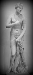 """Aphrodite of Menophantos"" a Venus Pudica signed by Menophantos, 1st century BCE, found at San Gregorio al Celio, Rome Museo Nazionale Romano. Rome. Italy."