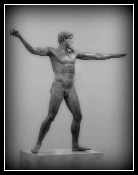 Zeus of Artemision. Dated 450 B.C. Found Found in the sea near cape Artemision. National Archaeological Museum of Athens