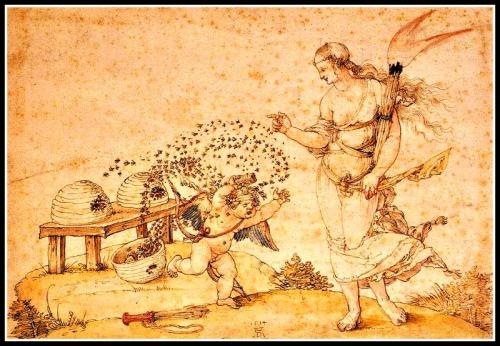 """""""Cupid, the Honey Thief"""" by Albrecht Dürer ("""