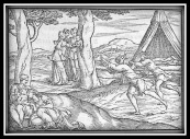"""Mirra e Cinira, nascita di Adone, Venere e Adone"" by Giovanni Rusconi (1553)."
