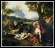 """Adonis killed by a wild boar"" by Francesco Albani Bridgeman."