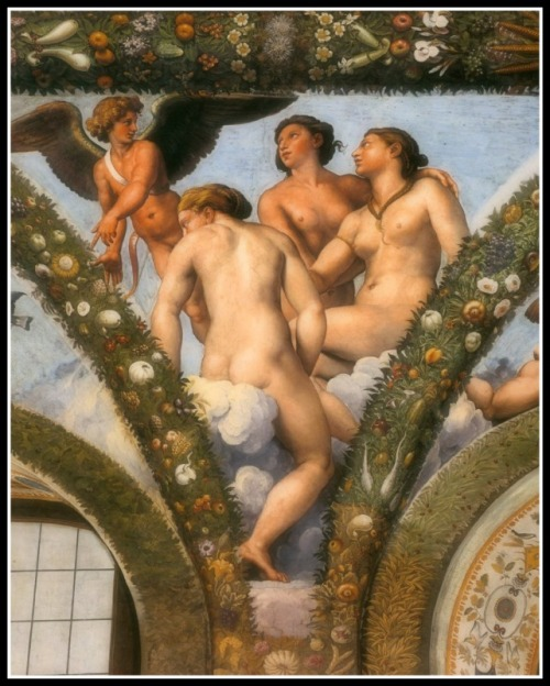 """Cupid and the Three Graces"" by Giulio Romano (1517-18)."