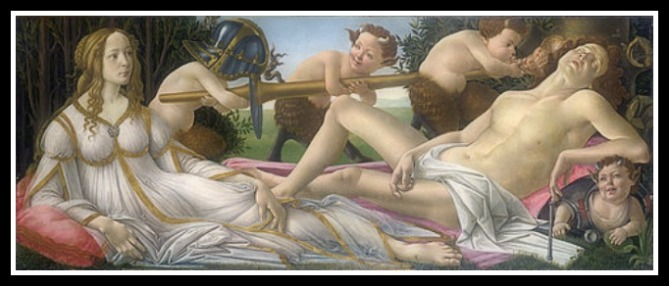 """Mars and Venus"" by Sandro Botticelli (1483)."