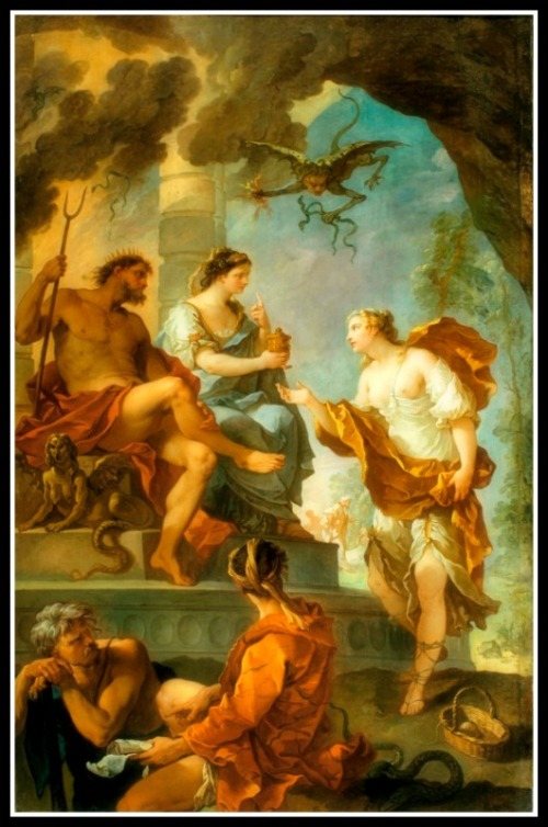 Psyche Obtaining the Elixir of Beauty from Proserpine by Charles-Joseph Natoire (France, Nîmes and Castel Gandolfo, 1700-1777) France, circa 1735