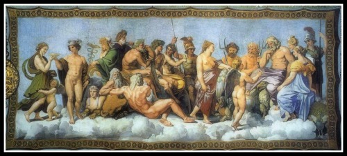 """The Council of Gods"" by Raphael and collaborators (1517-18)."