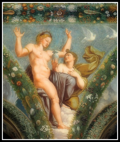 """Venus and Psyche"" by Raphael and collaborators (1517-18)."