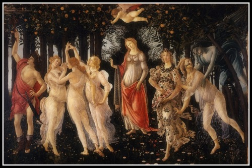 """Primavera"" by  Sandro Botticelli (1482)."