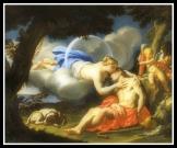 """Selene and Endymion"" by Francesco Trevisani (18th Century)."