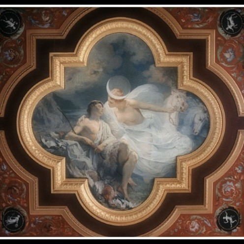 """Selene and Endymion"" (detail) at Ny Carlsberg Glyptotek, Copenhagen by Erasmus Quellin (1897)."