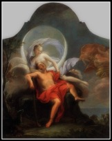 """""""Selene and Endymion"""" by Filippo Lauri (1650)."""