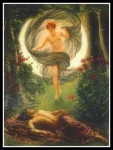 """Selene and Endymion"" by Sir Edward John Poynter 1901"