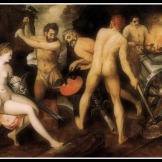 """Venus at Vulcan's Forge"" by Floris Frans (1560-64)."