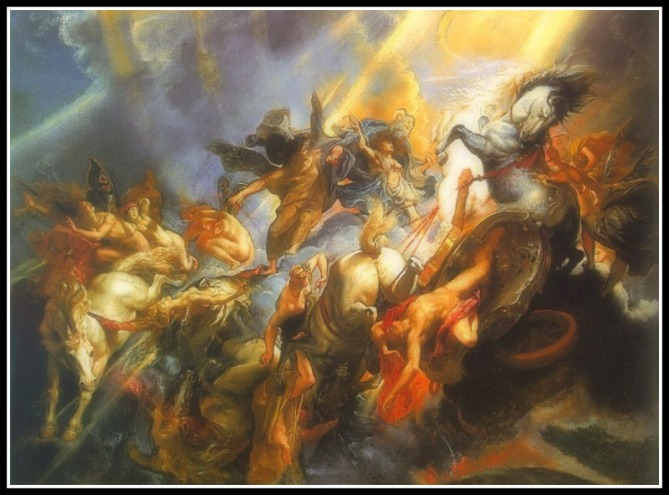 """The Fall of Phaeton"" by Peter Paul Rubens  (1605)."