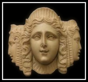 "Hecate, the ""Phosphorescent Angel"", in triple form"