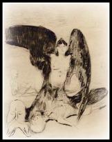 """Harpy"" by Edvard Munch (1894)."