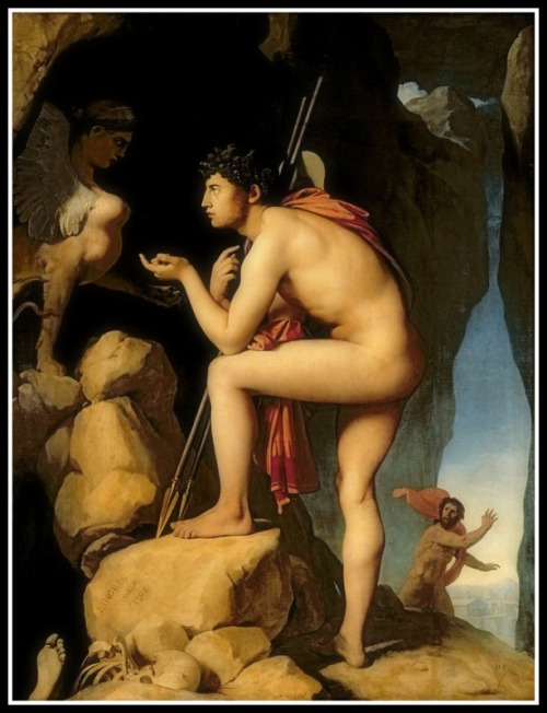 """Oedipus and the Sphinx"" by Jean-Auguste-Dominique Ingres (1808)."