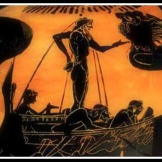 Odysseus and the Sirens. Attic Black Figure . 520 B.C . Antikensammlun, Berlin, Germany.