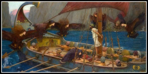 """Odysseus and the Sirens"" by  John William Waterhouse (1891)."