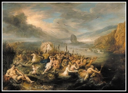 """The Triumph of Neptune and Amphitrite"" by  Frans Francken The Younger ( 17th century)."