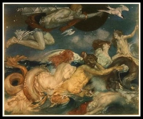 """Tritons and Nereids"" by William Russell Flint (1911)."