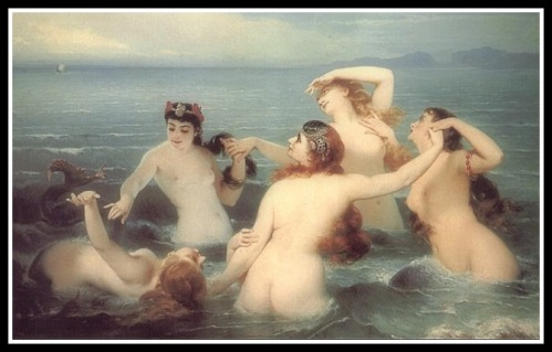 """Mermaids Frolicking in the Sea"" by Charles Edouard Boutibonne (1883)."