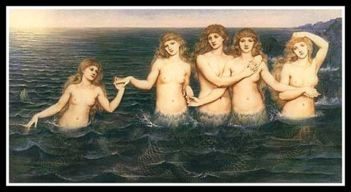 """Sea Maidens"" by Evelyn Pickering de Morgan (1885)."