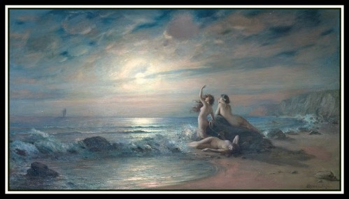 """Sirens by the Sea"" by Victor Karlovich Shtemberg  (19th century."