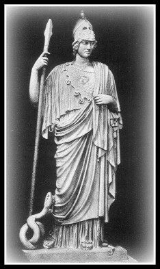The Athena Giustiniani, a Roman copy of a Greek statue of Athena. Vatican museum.