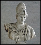 """Bust of the """"Velletri Pallas"""" type, copy after a votive statue of Kresilas in Athens (c. 425 BC)."""