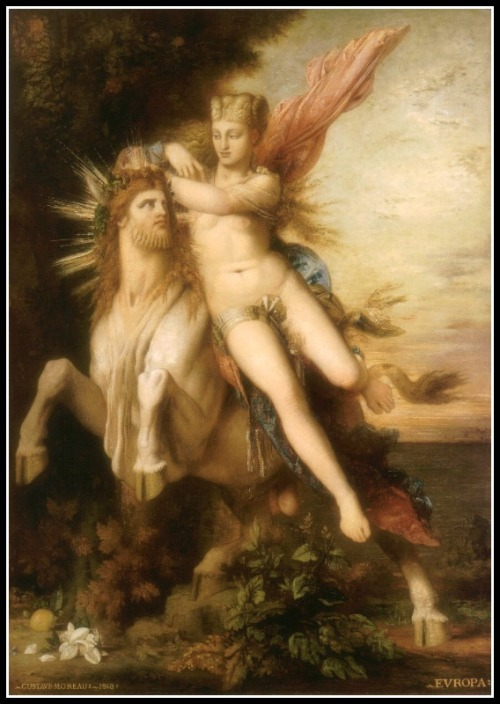 Jupiter and Europe by Gustave Moreau (1868