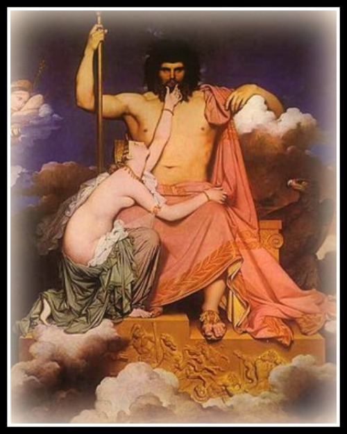 Jupiter and Thetis, by Jean Auguste Dominique Ingres. 1811.