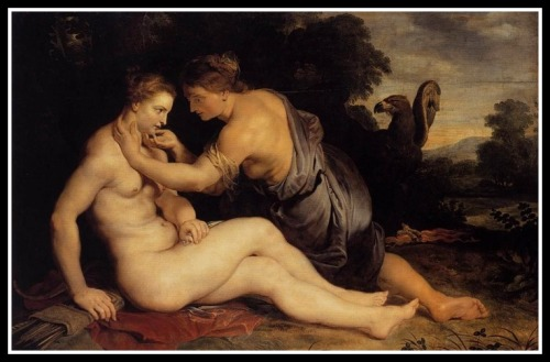 """Jupiter seduces Callisto."" by Peter Paul Rubens. (1673)."