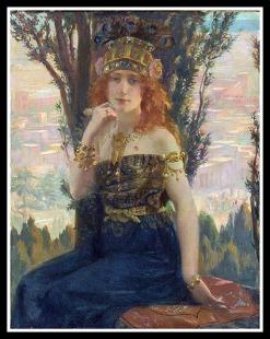 """""""Helen of Troy"""" by Gaston Bussiere (1900)."""