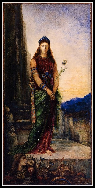 """Helen on the Walls of Troy"" by Gustave Moreau (1895)."