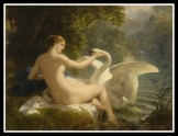 """Leda and the Swan"" by Johann M F H Hoffman. (1824)."