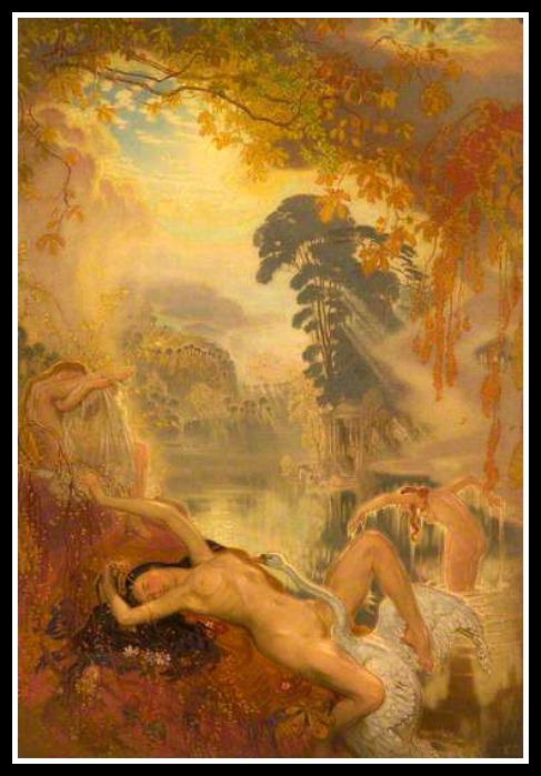 """Leda and the Swan"" by William Shackleton. (1928)."