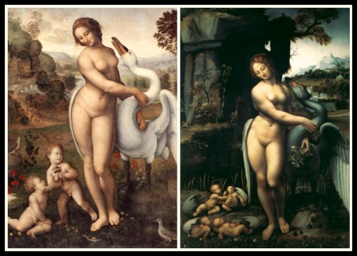"On the Right: ""Leda"" by  Leonardo da Vinci (1510 -1515)"
