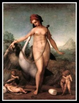 """""""Leda and the Swan"""" by Jacopo Pontormo (16th century)."""