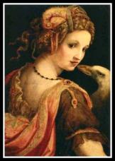 """Leda and the Swan"" by Ghirlandaio Domenico (1460)."
