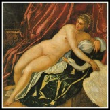"""""""Leda and the Swan"""" by Tintoretto. (16th century)."""