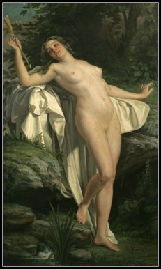 """Diana at her bath"" by Alexandre Jacques Chantron (19th Century)."