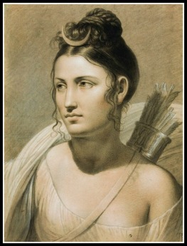 """Diana"" by Joseph Duch (19th Century)."