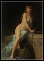 """Diana"" by Jules Joseph Lefebvre (19th Century)."