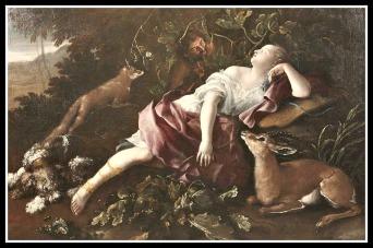 """Diana"" by Domenico Guidobono (1720)."
