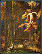 """The Raising of Ganymede"" by Gustave Moreau (19th century)."