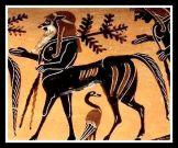 Centaur. Etruscan vase, red figure amphora. c 530 BC.